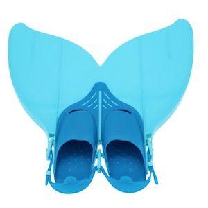 Monofin Taucherflosse in zwei Blautönen