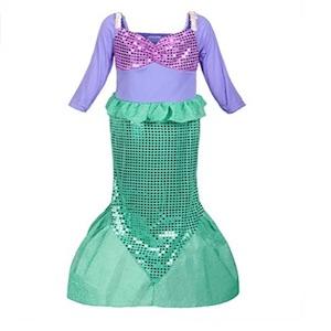 Nixen Verkleidung in grün und lila für Mädchen